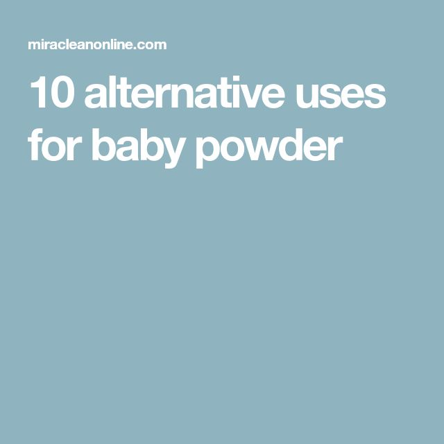10 alternative uses for baby powder