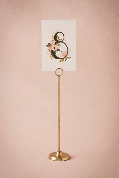 BHLDN Golden Spindle Cardholder in  Décor Table Signage at BHLDN