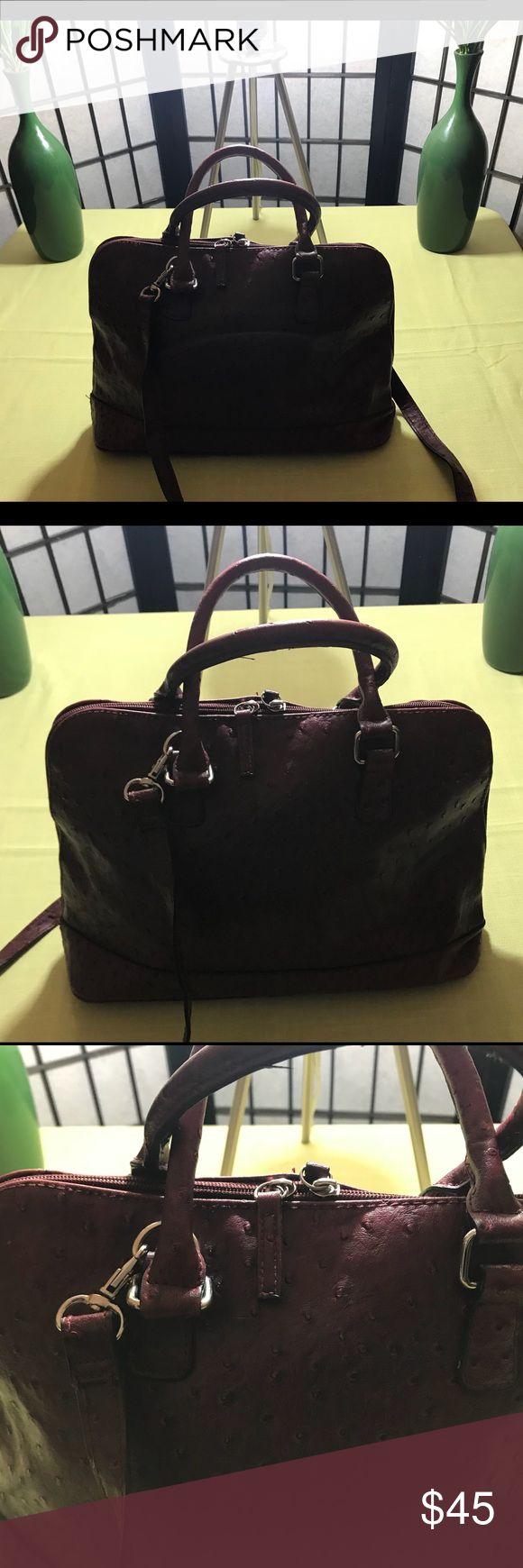 """Bueno burgundy handbag with pebble design Bueno burgundy handbag with pebble design and strap/ excellent condition/ dimensions 9"""" x 15"""" Bueno Bags Shoulder Bags"""