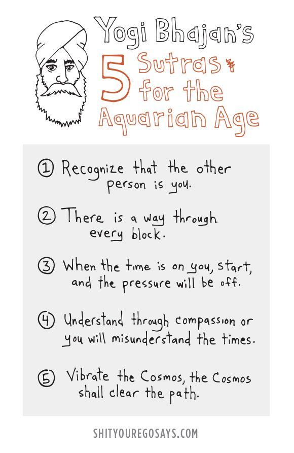 yogi_bhajan_5_sutras_aquarian_age