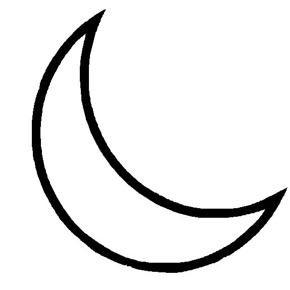 Half moon coloring page printable coloring pages for Half moon coloring pages
