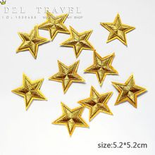 New arrival 10 pcs Gold Color little star Embroidered patches iron on cartoon Motif Applique DIY nembroidery accessory(China (Mainland))