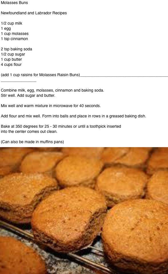 Molasses Buns .... Newfoundland recipe
