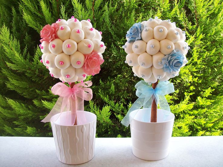 Marshmallow topiaries for the twins !