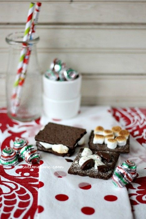Indoor Chocolate Mint S'mores Recipe - Call Me PMc