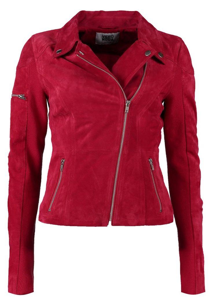 Vero Moda EUROPE Leather jacket red
