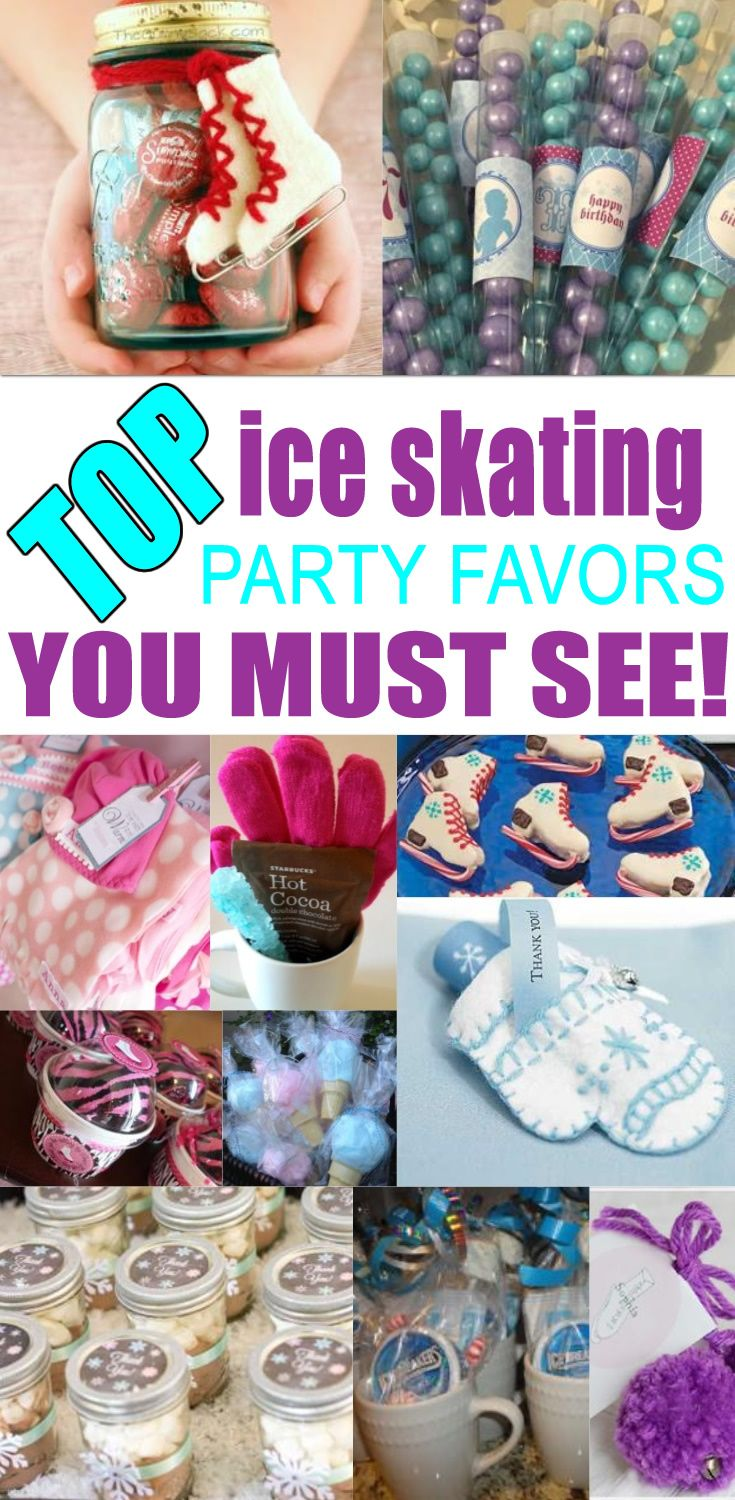 BEST ice skating party favors! Amazing ice skating party favor ideas you must see! Find  ice skating party favors for kids birthday parties & more. Get fun gift bag ideas, ice skating treat ideas, easy goodie bags, cheap diy ideas and more. Cool party favors for kids, children, teens, tweens, & adults.  Boys and girls will love these ice skating birthday party favor ideas! Find the best ice skating favors now!