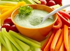 Gluten Free Creamy Kale Dip with Veggie Dippers Recipe - Tablespoon