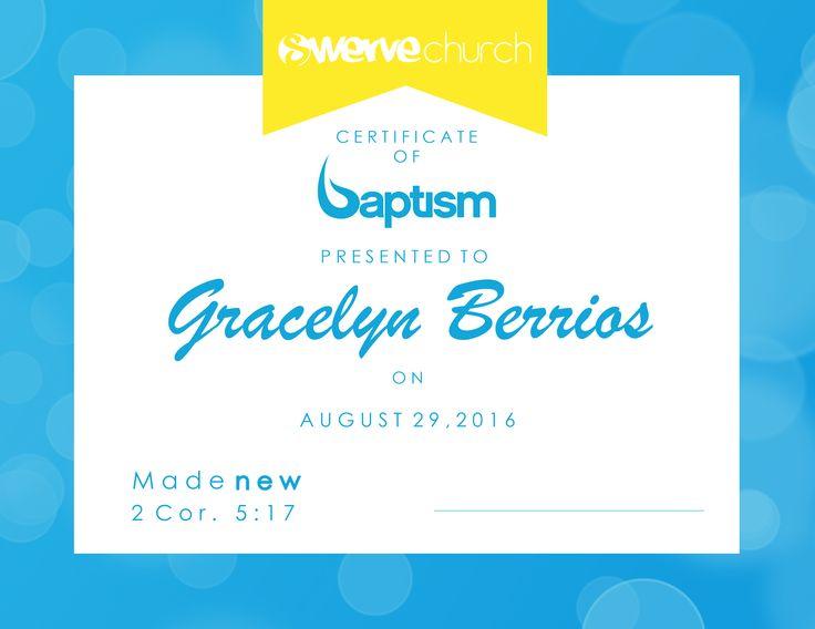 Baptism certificate Church Graphics Pinterest Certificate - baptism certificate
