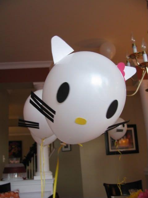 DIY Hello Kitty Balloons