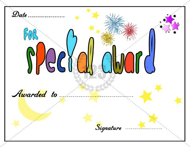special work award certificate template download free