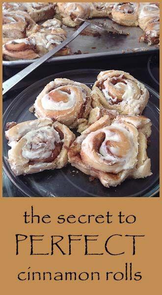 The secret to perfect cinnamon rolls, dough and filling recipe.