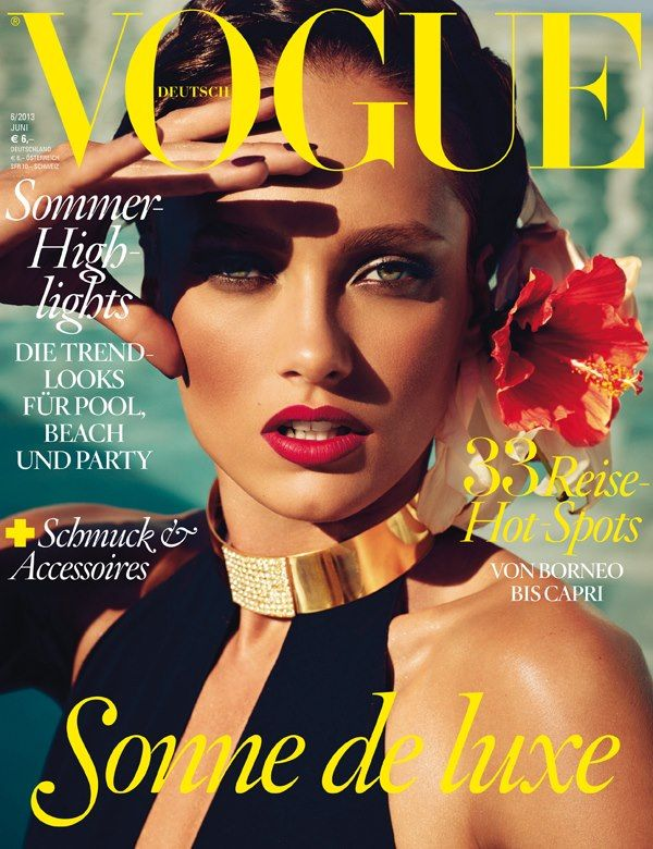 Karmen Pedaru Graces June 2013 Cover of Vogue Germany - Fashion Gone Rogue: The Latest in Editorials and Campaigns