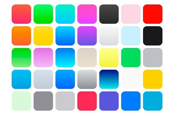 iOS 7 Color Swatches & Gradients. Patterns. $2.00