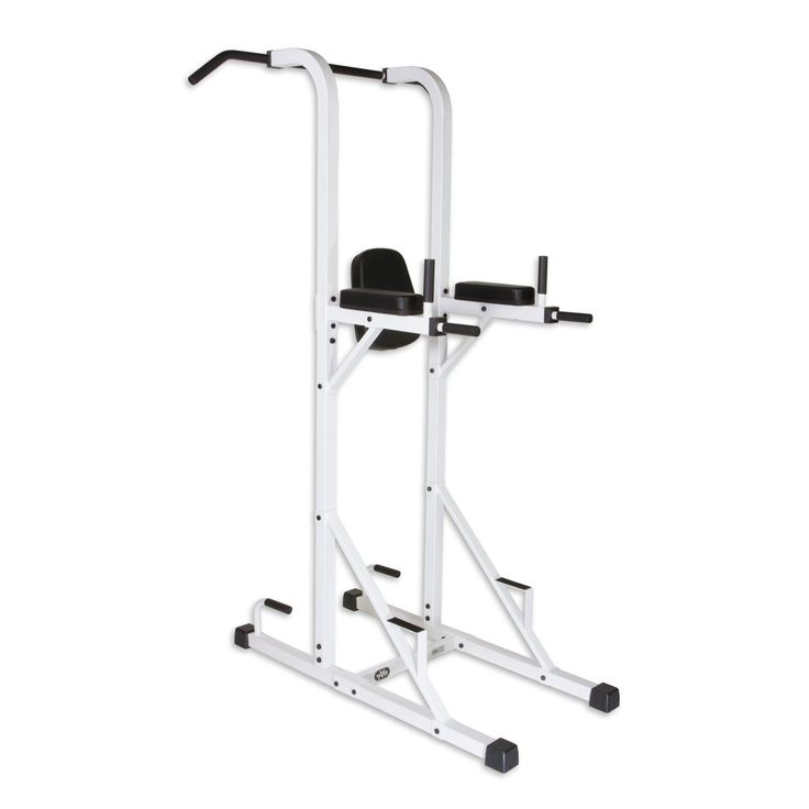 XMark Fitness Multi-Function Power Tower With Vertical Knee Raise, Dip Station, Push-Up station, and Pull-Up Station Featuring A Narrow and Wide Grip Pull UP Bar XM-4446
