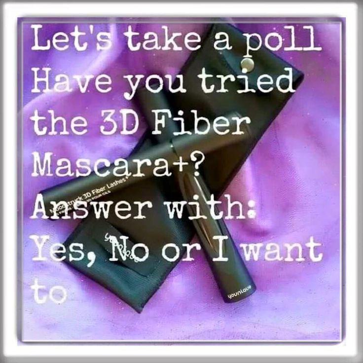 Have you tried Younique's 3D+ Fiber Lash Mascara? www.youniquebylisa.ca   www.facebook.com/pages/Lisas-Beauty-Boutique-by-Younique/100126357008482