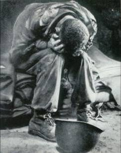 The Korean War | Here's that position you see over and a over in photos of men in all wars, including my own cousin, at time this is written, they are right now being denied access to the memorials that they fought for, and that many died for. God bless these soldiers gone on before & with us still †