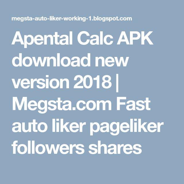 Apental Calc APK download new version 2018 | Megsta com Fast auto