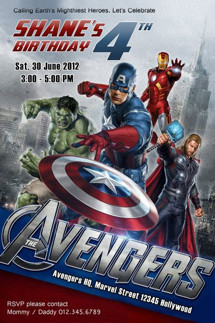176 best images about Avenger Birthday Party Ideas – Marvel Party Invitations