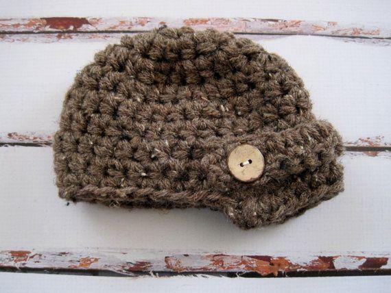 Crochet Toddler Hat Boy Toddler Hat Boy Newsboy by Monarchdancer