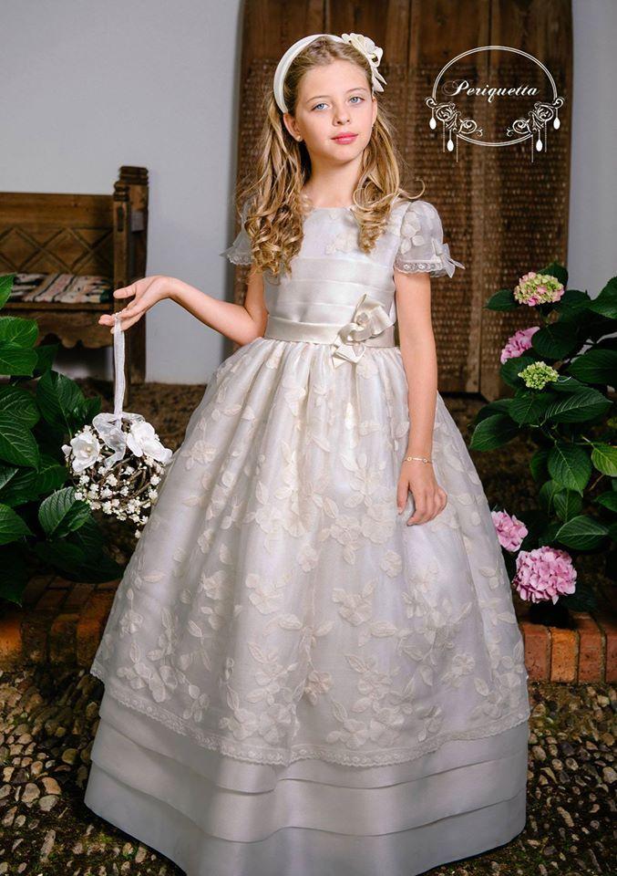 Moda  Adolescentes y Niños Elegancia  Estilo: Vestidos de Comunión 2015: Periquetta