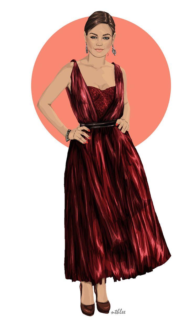 NTHLEE illustrations / NATALIA NAZIMEK #art #fashion #inspiration #love #illustration #outfit #cap #beautiful #model #kunis #milakunis  #digitalart #digital #graphicdesign #madewithwacom #wacom