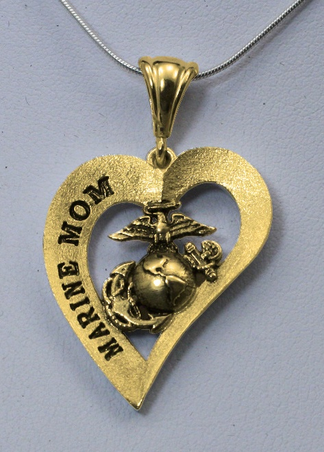 Marine Mom the perfect gift for Mothers Day  www.USMarineCorpsJewelry.com