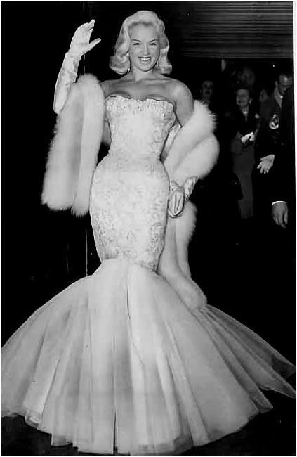 Diana Dors (aka: The Siren of Swindon) working the red carpet