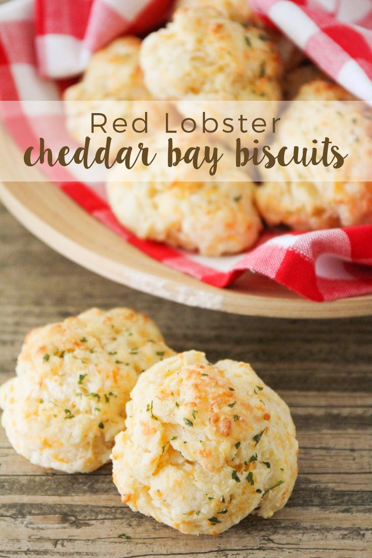 These Red Lobster copycat cheddar bay biscuits are soft and fluffy on the inside, crisp on the outside, and so cheesy and delicious!
