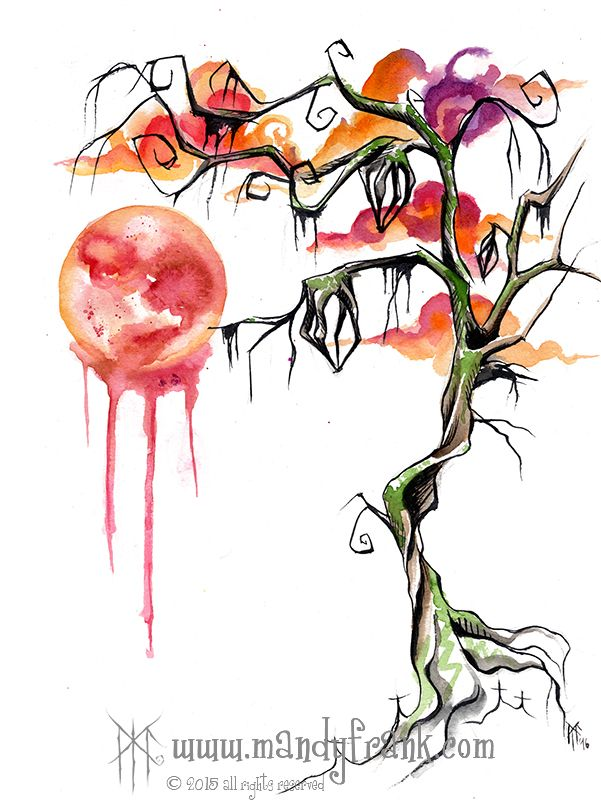 #bloodmoon #watercolor #artwork #mandyfrank #illustration #hamburg2016