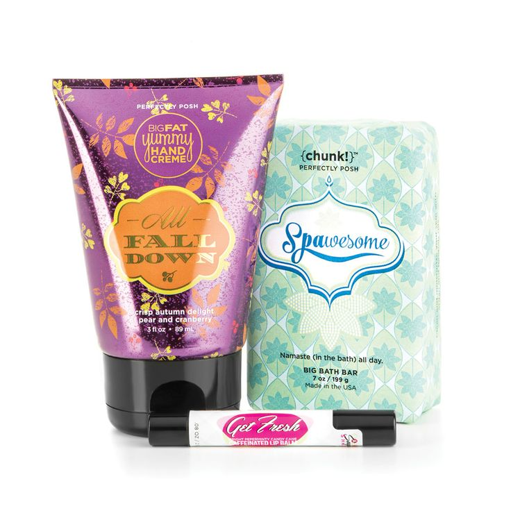 It's Posh to Meet You! Please select a Chunk, Lip Balm, and a Big Fat Yummy Hand Crème and prepare to feel pampered.