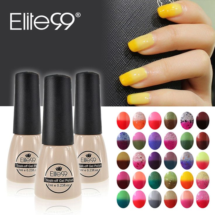 Elite99 Thermal Color Changing Nail Gel Polish Soak Off 7ml Temperature Color Changeable Nails Polish Gel Varnish Nail Glaze