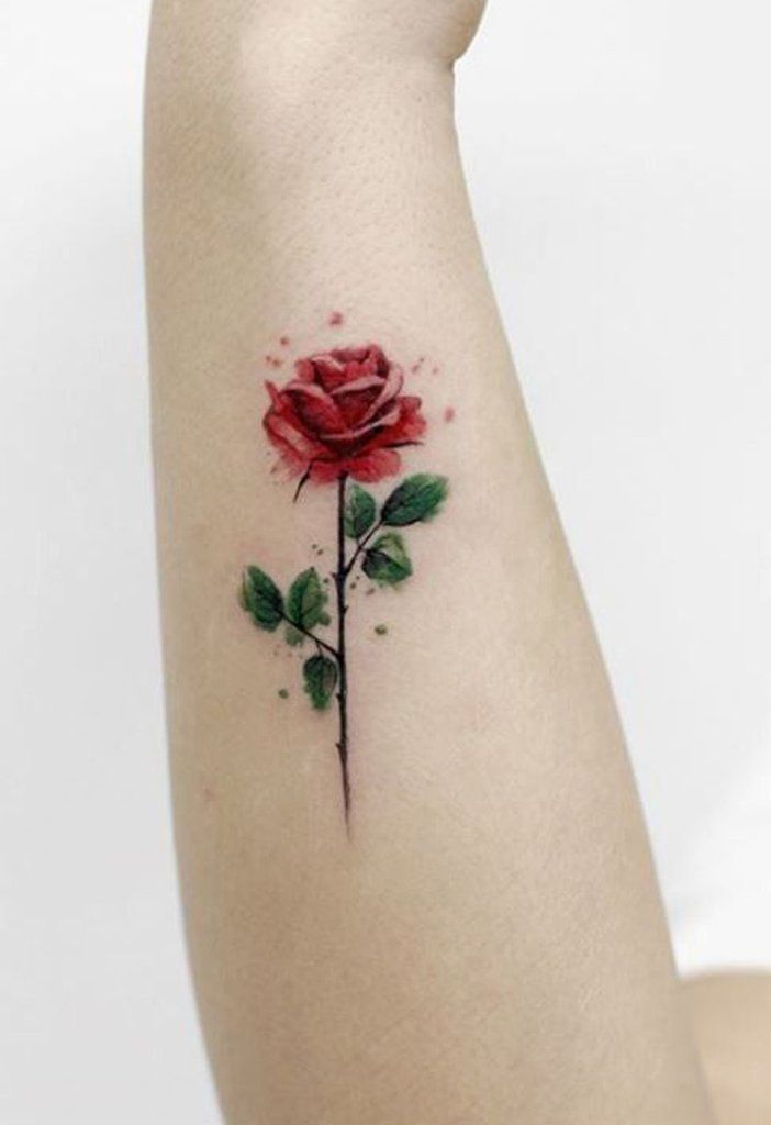 100 Trending Watercolor Flower Tattoo Ideas For Women Rose Tattoos On Wrist Small Rose Tattoo Single Rose Tattoos