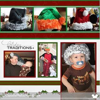 Christmas Traditions - Disney Santa Hats #DisneyScrapbooking #DisneyMemories