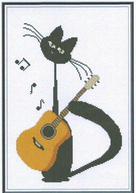 Meow Serenade - Cross Stitch Pattern