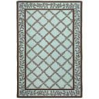 Chelsea Blue/Brown 5 ft. 3 in. x 8 ft. 3 in. Area Rug