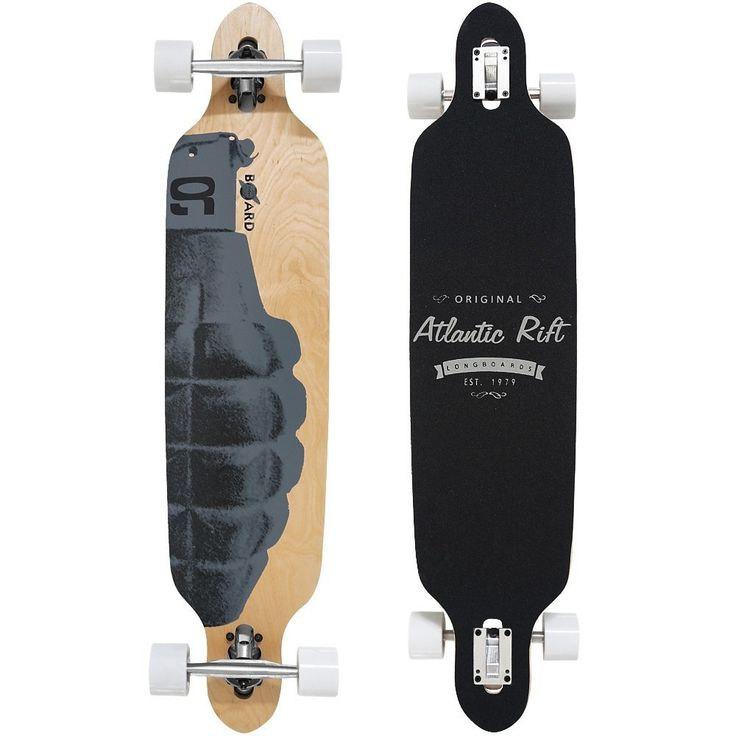 longboard original atlantic rift complete longboard 107x24cm abec 9 maple wood max 100kg skateboardingskateboardskateboards - Skateboard Bank Beine