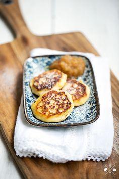 Sächsische Quarkkeulchen | relleomein.de #veggy (Pancake Healthy)