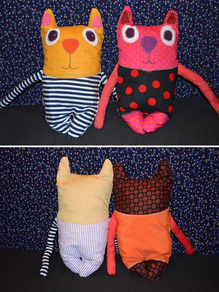SZOKA DESIGN, toy, cat, textile, handmade, recycle