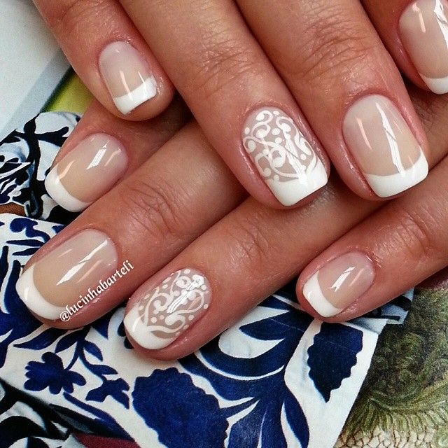 White Nails. Wedding. Nail Art. Nail Design. Polish