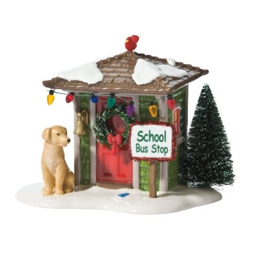 Department 56 Original Snow Village Waiting for the Bus Accessory Figurine by Department 56