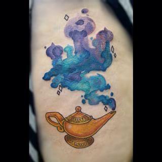 disney watercolor tattoo - Aladdin on the ankle. I need an Aladdin tat