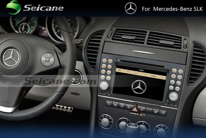 A step-by-step installation guide for a 2004-2012 Mercedes-Benz SLK R171 head unit with FM AM radio GPS navigation Bluetooth