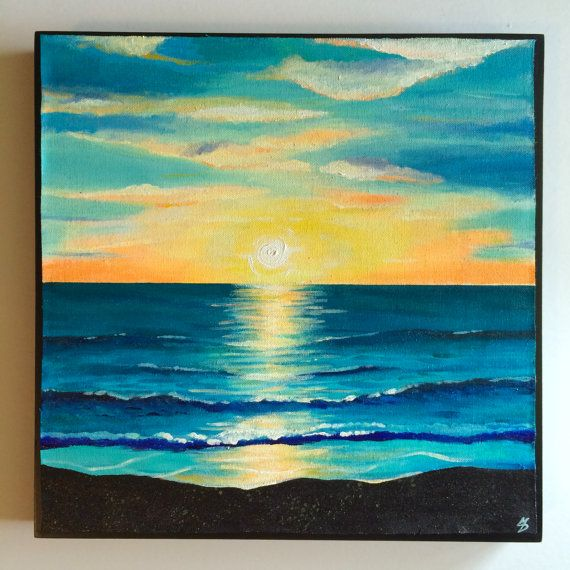 Original Acrylic Painting 16 x 16 x 1.5 inches by Monica Downs, $58.99 SOLD