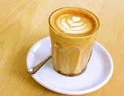Cafe latte coffee drink
