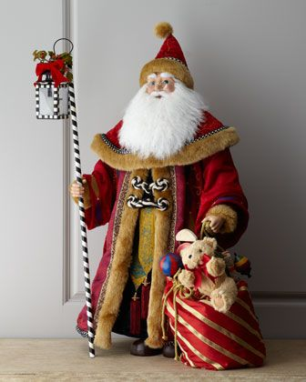 """Berry Father"" Santa Claus by MacKenzie-Childs at Neiman Marcus."