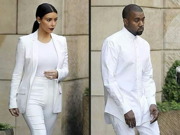 Mr and mrs west macthing outfits in prague kim kardashian west and kanye wesr