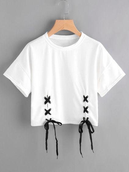Camiseta con cordones