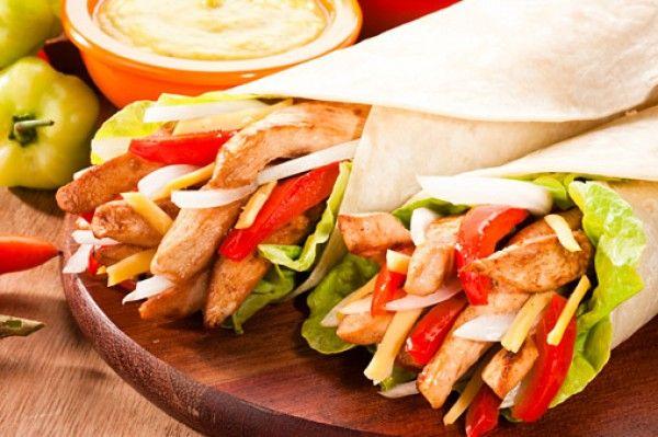 Menú de Sábado: Fajitas de pollo y verduras