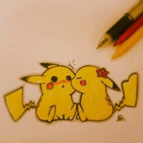 cute pikachu couple pokemon - photo #16